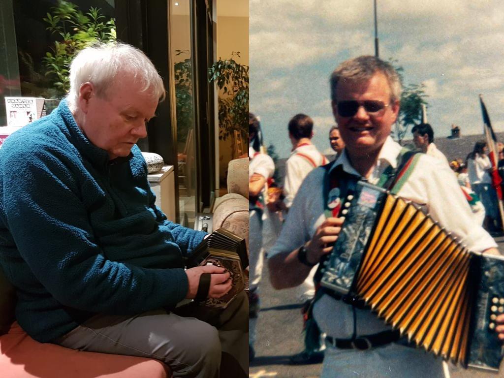 Simon Cooper playing accordion